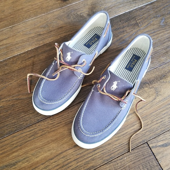 Polo by Ralph Lauren Other - POLO Ralph Lauren SANDER Blue Canvas Slip ons